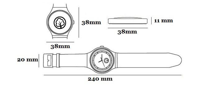 WoodWorld.pl - wymiary zegarka