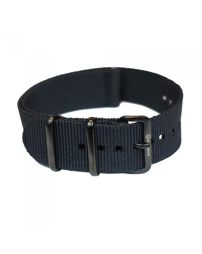Czarny pasek nylonowy | 20mm