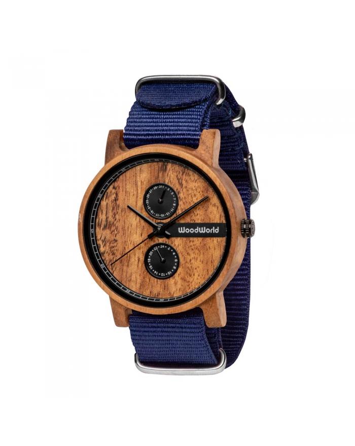 Drewniany Zegarek Blue Frank