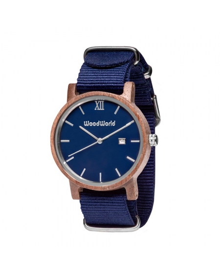 Drewniany Zegarek Olivier Blue