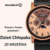 30 września - podaruj więcej niż zegarek – prezent na Dzień Chłopaka z własnym grawerem! ⌚ #woodworld_pl